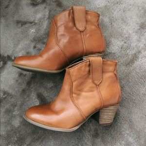 ALDO Brown Leather Ankle Boots